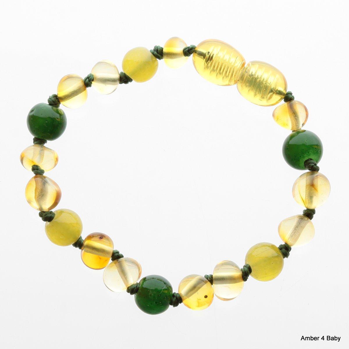 Gemstone Baltic Amber Teething Bracelet