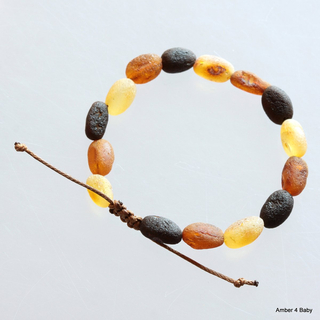 Shamballa Raw Baltic Amber Teething Bracelet for Babies