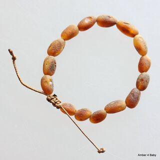 Shamballa Raw Baltic Amber Teething Bracelet for Babies