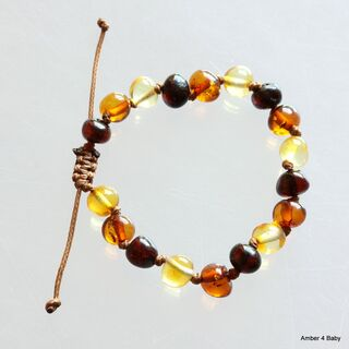 Shamballa Baltic Amber Teething Bracelet for Babies