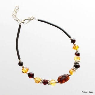 Baltic Amber Bangle Bracelet for Adults