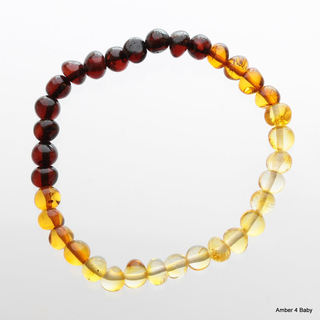 Baltic Amber Stretchy Bracelet for Adults