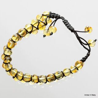Shamballa Baltic Amber Bracelet for Adults