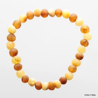 Raw Baltic Amber Stretchy Bracelet for Adults