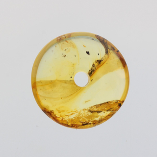 Donut shape Baltic amber pendant medallion