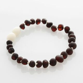 Raw Cherry Baltic Amber Bracelet for Adults