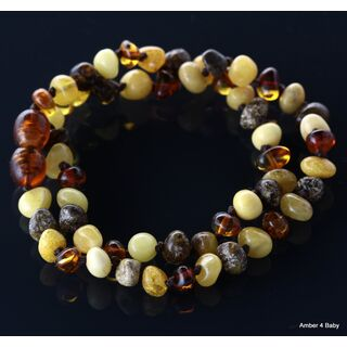 Mix Baltic Amber Teething Necklace for Baby