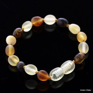 Beans Baltic Amber Teething Bracelet for Babies