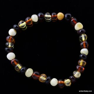 Multi Baltic Amber Stretchy Bracelet for Adults