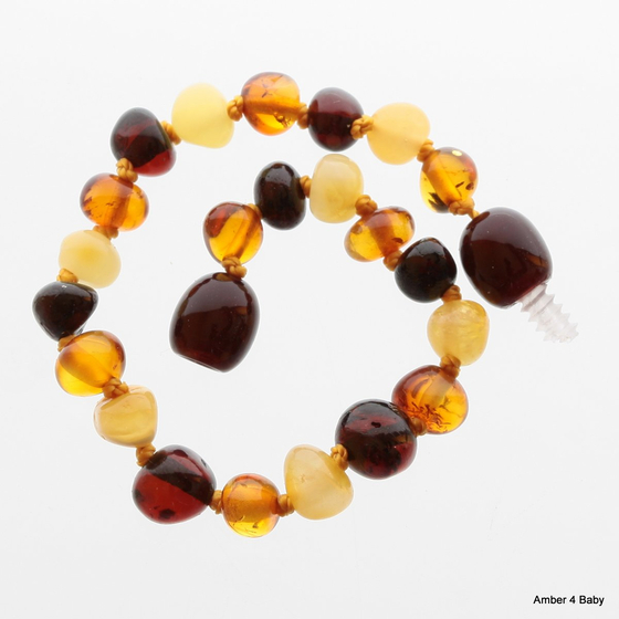 Baltic Amber Teething Bracelet for Babies