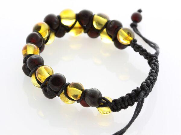Shamballa Baltic Amber Bracelet for Adults