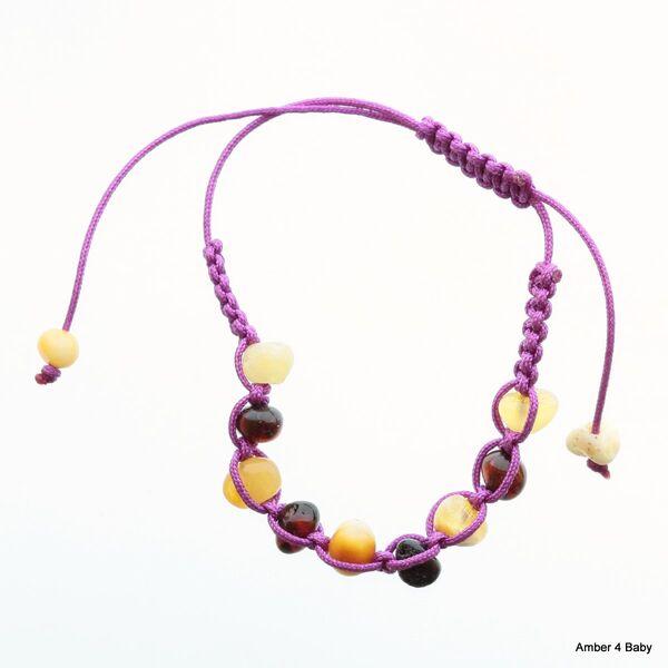 Shamballa Baltic Amber Teething Bracelet for Babies