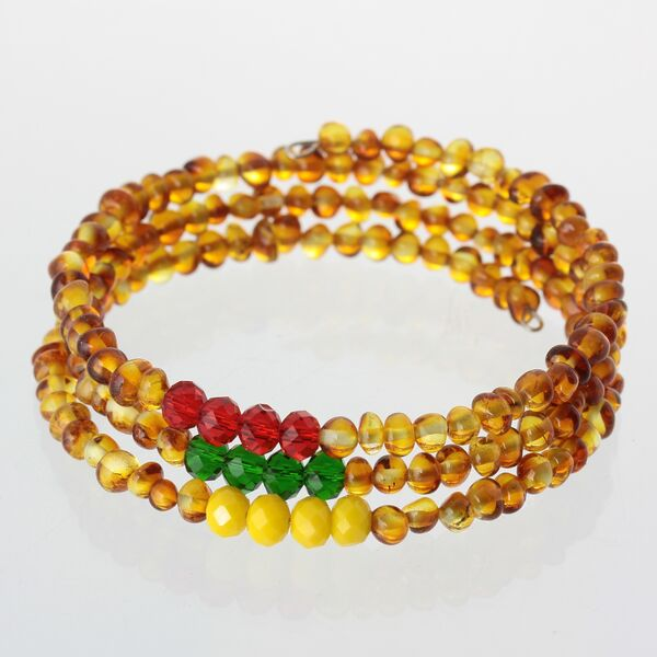 Memory wire Baltic Amber Bracelet for Adults