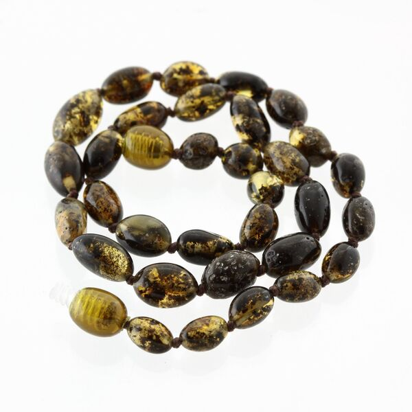 Beans Baltic Amber Teething Necklace for Baby