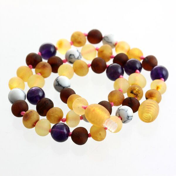 Raw Honey Gems Baroque Teething Baltic amber Necklace