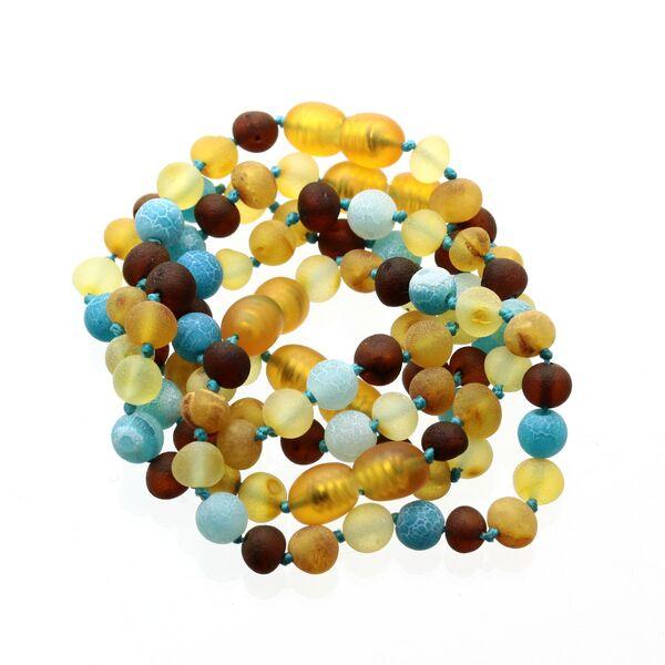 Raw Honey Gems Baroque Teething Baltic amber Bracelet