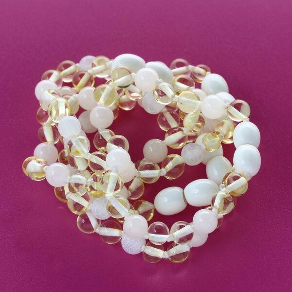 Lemon Gems Baroque Teething Baltic amber Bracelet